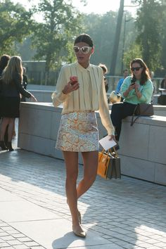 coming up golden. Gio looking completely brilliant in Paris. #GiovannaBattaglia