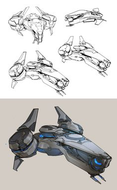 ArtStation - Halo 5- Phaeton preliminary sketches, sparth .