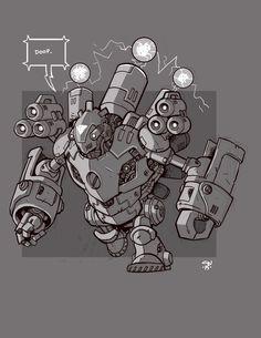 Mecha Sketch 11 by cwalton73