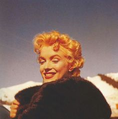MM by Milton Greene on the set of Bus Stop