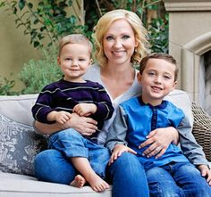 Leigh-Allyn Baker with her 2 kids....
