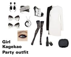 """""""Girl Kagekao party outfit"""" by boogieman124 ❤ liked on Polyvore featuring Thierry Mugler, Jorge Adeler, Mark Broumand, Allurez, Pierre Mantoux and Barry M"""