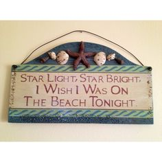Star light, star bright, I wish I was on the beach tonight. Ocean Quotes, Beach Quotes, Ocean Beach, Beach Bum, I Love The Beach, Beach Crafts, Diy Crafts, Beach Signs, Beach Cottages