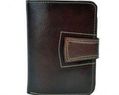 Luxusná kožená elegantná peňaženka č.8464 v hnedej farbe Colors