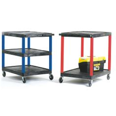 Service Trolleys with Coloured Legs