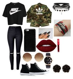 My fav by bainskarina on Polyvore featuring polyvore, fashion, style, NIKE, adidas, Converse, Erica Lyons, Maison Margiela, Victoria Beckham, Lime Crime and clothing
