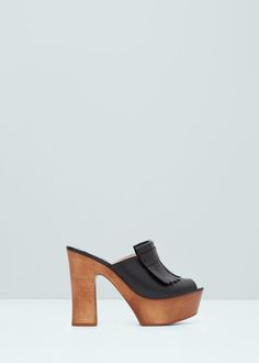 Fringe leather sandals - Shoes for Woman | MANGO