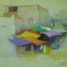 Marwayit Hapiz, Ol auf Leinwand, 40 x 40
