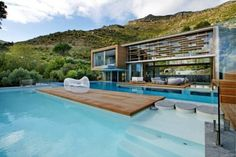 Minimalist Spa House The MountainSide in Cape Town by Metropolis Design Architect View 15 Spa Swimming Pool and Patio | House Popularity