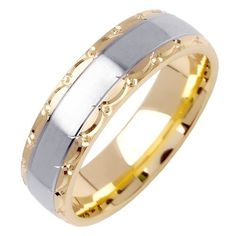 Satin Two Tone Wedding Ring