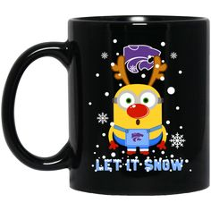 Kansas State Wildcats Minion Christmas Mug Let It Snow Coffee Mug Tea Mug
