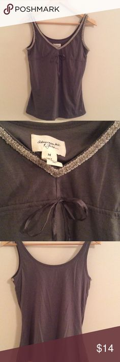 Like New Abercrombie & Fitch Beaded Tank Built in bra. Very soft material. EUC. Abercrombie & Fitch Tops Tank Tops