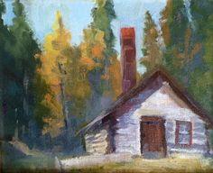 Plein air oil painting|Lomax Mine, Breckenridge, CO.