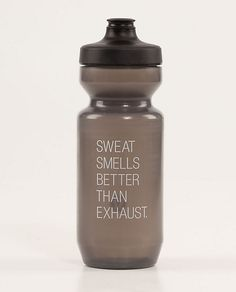 Actually...Sweat smells like Sunshine!  Lululemon | Purest Cycling Water Bottle