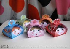 Matryoshka party gift boxes Printable Russian by PapierBonbon