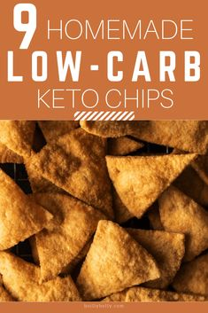 This are 9 Homemade Low-carb Keto Chips which are very easy and delicious. Let's pin it. This are 9 Homemade Low-carb Keto Chips which are very easy and delicious. Let's pin it. Keto Friendly Desserts, Low Carb Desserts, Low Carb Recipes, Healthy Recipes, Diabetic Recipes, Chip Alternative, Keto Crackers Recipe, Low Carb Chips, Keto Tortillas