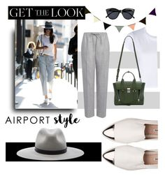 """""""Get the look"""" by janicevc on Polyvore featuring Miu Miu, RE/DONE, Joseph, rag & bone, 3.1 Phillip Lim, Le Specs, ferm LIVING, GetTheLook and airportstyle"""
