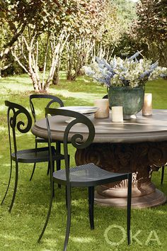 10 best round outdoor table images in 2019 rh pinterest com