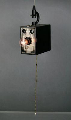 Upcycled Art Deco Camera Lamp  Kodak Brownie Six20 by RetroBender