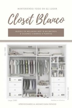 Recursos para cambiar de habitación: de niños a adolescentes – Deco Ideas Hogar Wardrobe Design Bedroom, Wardrobe Cabinets, Master Bedroom Closet, Bedroom Wardrobe, Wardrobe Closet, Built In Wardrobe, Clothes Cabinet Bedroom, Bedroom Cupboards, Wardrobe Dimensions