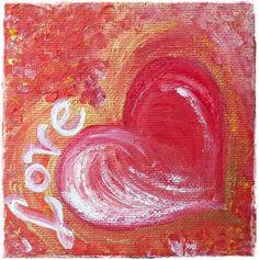 Acrylmalerei - Acrylbild LOVE  - ein Designerstück von HOAMELIGundSCHEAN bei DaWanda