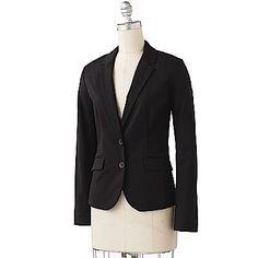 Black button-up blazer from Apt 9 - via @babycenter