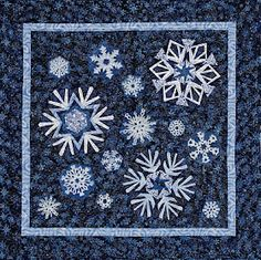 snowflake quilt block Paper pieced quilt by Peggy Martin Star Quilt Blocks, Quilt Block Patterns, Quilting Projects, Quilting Designs, Quilting Ideas, Quilting Tutorials, Snowflake Quilt, Snowflakes, Frozen Quilt