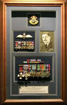 beautiful way to display (and honor) a loved one's lifetime of service---Squadron Leader James Joseph OMeara D.S.O., D.F.C.
