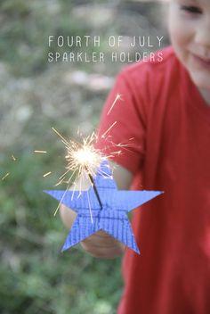 FOURTH OF JULY SPARKLER HOLDERS DIY