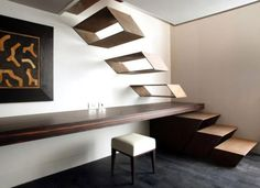 Amazing staircase... love the integrated bench