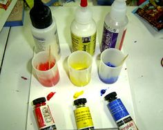 Crear tus propios colores para arcilla polimérica - Creating Your Own Colored Polymer Liquid Clay, Using Fimo, Kato and Sculpey Liquid