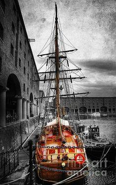 Tall Ship ~ berthed at Albert Dock, Liverpool
