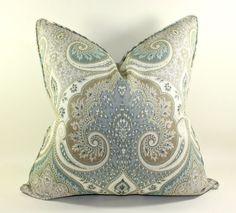 Kravet Latika in Seafoam Pillow Cover Decorative by trendypillows, $55.00