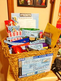 All about you basket for an anniversary. :) Very sweet and very thoughtful. Your boyfriend or girlfriend will be in awe of the sweet gesture.