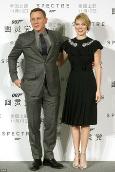 Arm-in-arm: Daniel Craig joined the French actress at the event as they continued to promo...