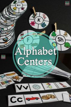 5 alphabet centers perfect for hands on learners, work tasks, early finishers, centers, visual learners and more!