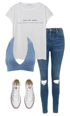 """""""back to school"""" by haileyhoksbergen on Polyvore featuring Topshop, MANGO, Charlotte Russe and Converse"""