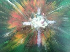 Abstract Art Crosses | Abstract Cross Painting by Diane Burroughs - Abstract Cross Fine Art ...