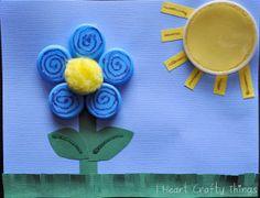 Bottle Cap Art (Fish and Flower Scene) Summer Crafts For Kids, Craft Projects For Kids, Crafts For Kids To Make, Spring Crafts, Kids Crafts, Art For Kids, Diy And Crafts, Arts And Crafts, Kids Work
