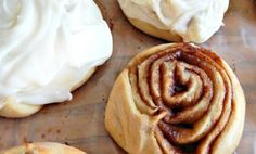 Homemade frosted cinnamon rolls, taste just like Cinnabon