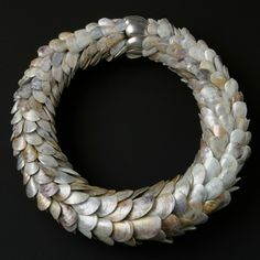 Ethical Metalsmiths - Rika Mouw. mussel shells and silver clasp!