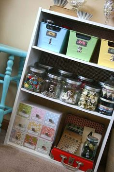 blog with pics of a Great craft room!