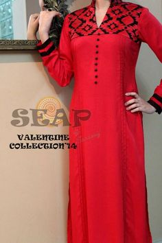 Seap by Sana Arif Casuals, Party Wear 2014 - Gul Ahmed, Firdous Lawn, Sana Safinaz, Swiss Lawn Pakistani Fashion Casual, Pakistani Outfits, Indian Outfits, Indian Fashion, Women's Fashion, Modest Dresses, Simple Dresses, Casual Dresses, Dresses 2014