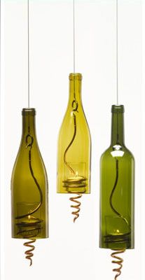 Upcycled Wine Bottles - love anything to do with glass bottles ... <3