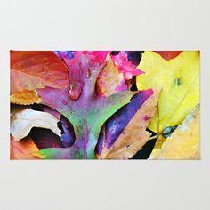 Colors of Autumn Area & Throw Rug by Judy Palkimas