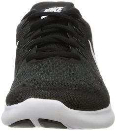 7ecab67c0f314 NIKE Mens Free RN 2017 Running Shoe Black White Dark Grey Anthracite Size