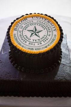Perfect Baylor seal groom's cake!