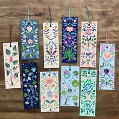 My Etsy shop is finally open after a very long break and these hand painted original bookmarks are now listed! 10 designs available,… Creative Bookmarks, Diy Bookmarks, Bookmark Ideas, Watercolor Pattern, Watercolor Art, Watercolor Bookmarks, Book Markers, Painting Inspiration, Diy Art