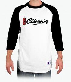 Oldsmobile Script Champion Tagless Raglan Baseball T-Shirt