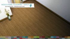 Wood Panel Flooring - Sims 4 Walls & Flooring - Dragon Black Sims